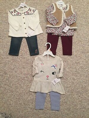 NWT Infant Girls Sz 12 Month Spring Clothing LOT/Carter's/floral/$98 Value!!