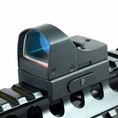 Adjustable Holographic Tactical Micro Red Dot Sight For 20mm Rail Mount Airsoft
