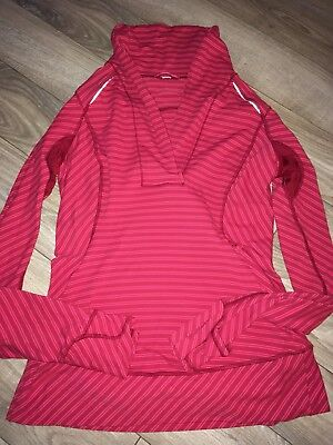 Double Trouble LULULEMON Think Fast Pullover Boom Juice Shirt SZ 8