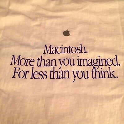 "Apple Vintage Clothing • ""More Than You Imagined"" T-Shirt • Size Large •"