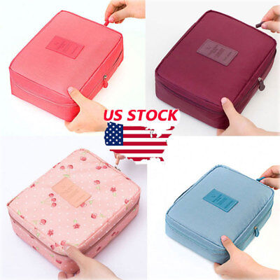 US Waterproof Women Makeup Case Travel Cosmetic Bag Pouch Toiletry Organizer Bag