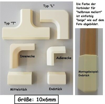 Connector for Cable Channel 10x6mm Light Brown Flecked