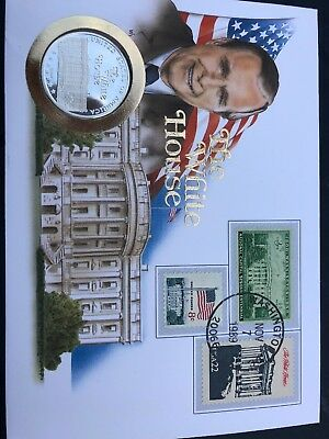 Numisbrief/Coin Cover The White House 1989 Us Postage