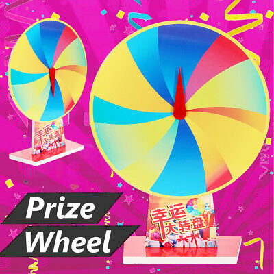US 16'' Tabletop Color Prize Wheel Fortune 12 Slot Spin Game Tradeshow Dry Erase
