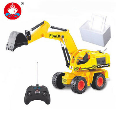 5CH Large Excavator Electric Arm Remote Control Engineering Vehicle Toy Gift