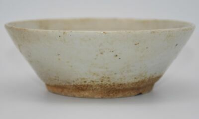 Unique Chinese Antique Creamy white glazed Round Porcelain Real Old Bowl X87