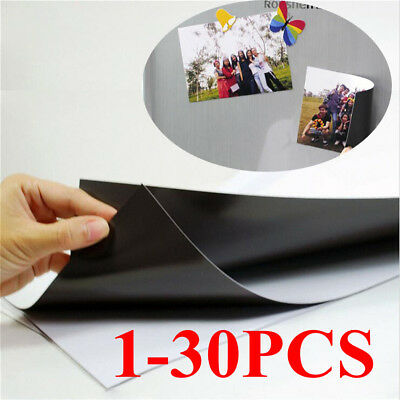 1-30pcs A4 Magnetic Magnet Sheets Thickness Crafts Material  Y8