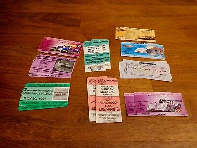 Lot Of 29 Road America Ticket Stubs, Elkhart Lake, Wi, Vg Condition, Fr Shipping