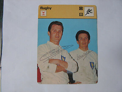 Rugby  signed card Guy and Lilian Cambérabéro