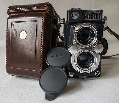 YASHICA 44LM TLR in good order, with leather case and carry strap. Fully working
