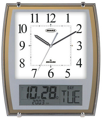 High Quality Wall Clock OSAKA ECO-9063, 12 Ringtones Calendar And Thermometer