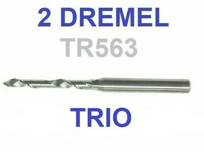 2 New Dremel Trio Tr563 Hardwood, Sheet Metal, Aluminum, Oak Carbide Cutting Bit