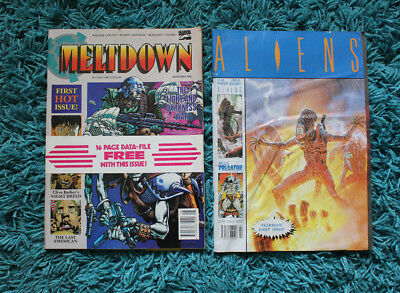 Joblot(No.3) FIRST EDITIONS 'Aliens' and 'Meltdown' comics annuals vintage rare.