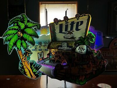 Miller lite 3D patio/beach party neon sign.