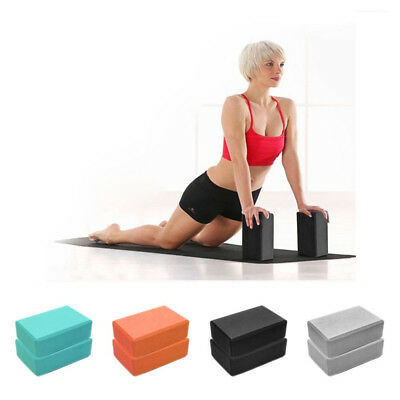 Exercise Fitness Yoga Blocks Foam Bolster Pillow Cushion EVA Gym Training New AU