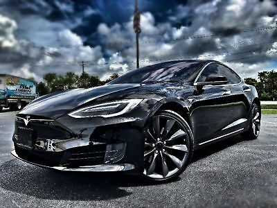 "Tesla Model S MODEL S 75 GLASS ROOF 21"" TURBINES MODEL S*21"" GREY TURBINES*GLASS ROOF*1 OWNER*CARFAX CERT*WARRANTY*WE FINANCE*FLA"