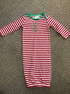 """SmockaDot Long Sleeve """"E"""" Initial Christmas Gown Girls Boutique Size 0-6 months"""