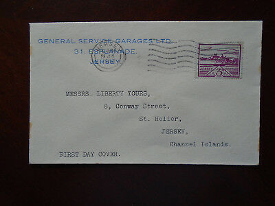 Jersey WWII 1943 commercially used Advertising First Day cover