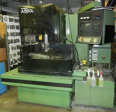 Sodick A500L wire edm , Mark 21 control, tooled, xlnt condition - $5850
