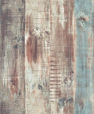 Wood Plank Wallpaper Vintage Wall Mural Rolls Real Look Art Home Decor 57 Sq.ft