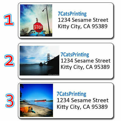 """30 ANY Custom Photo / Graphic Personalized Address Labels Return Size 1""""x2 5/8"""""""
