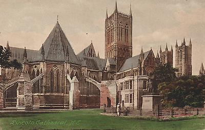 1910's VINTAGE POSTCARD - LINCOLN CATHEDRAL N.E. - COLOUR FRITH'S Series 74644