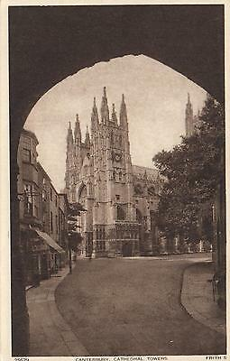 1910's VINTAGE CANTERBURY CATHEDRAL TOWERS POSTCARD FRITH'S Series #25679