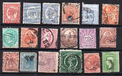 Australia States used collection WS10043
