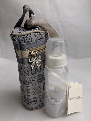NWT NEW Monnalisa Italy baby bottle and holder