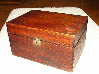 Antique Glass-lined Oak Humidor