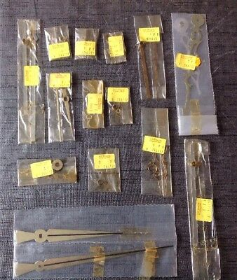 CLOCK HANDS NEW OLD STOCK JOB LOT ASSORTED 14 PAIRS Ex. CLOCKMAKERS SPARE PARTS