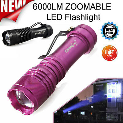 6000LM Q5 AA//14500 3Modes ZOOMABLE LED Super Bright Flashlight Police Torch