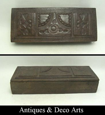 Victorian Brown Leather Covered Box