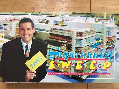 DALE WINTON SUPERMARKET Sweep Board Game 100% Complete Best