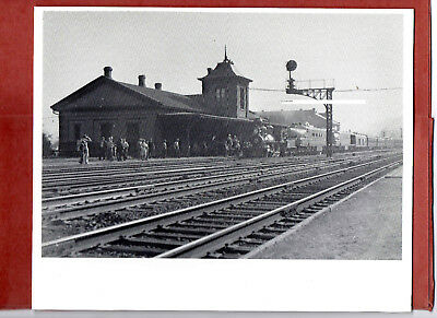 Pennsylvania RR PRR Photo UPRR at Depot in Lewistown PA B&W 8X10