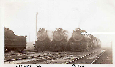 Pennsylvania RR PRR Photo K4 Locomotives at Meadows NJ 1940