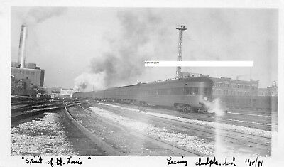 Pennsylvania RR PRR Photo Observation Car on Spirit of St Louis Indianapolis1941