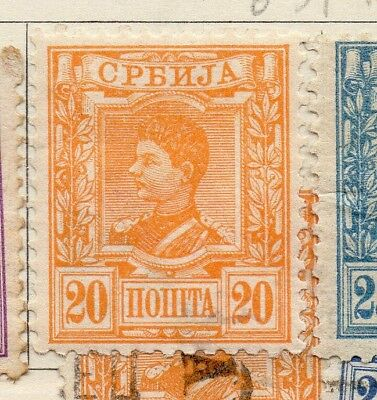 Serbia 1890 Early Issue Fine Mint Hinged 20pa. 267072