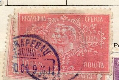Serbia 1904 Early Issue Fine Used 10pa. 267058