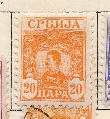 Serbia 1901-02 Early Issue Fine Mint Hinged 20pa. 267047