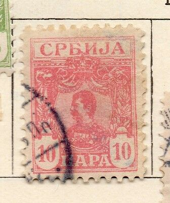 Serbia 1901-02 Early Issue Fine Used 10pa. 267045