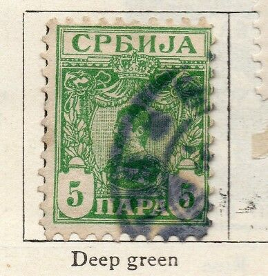 Serbia 1901-02 Early Issue Fine Used 5pa. 267043