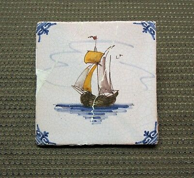 Antique Dutch Polychrome Delft Tiles