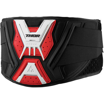 New 2019 Thor Mx Force Black White Red Kidney Belt Protection Adult Mens Moto