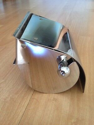 Brand New Toilet Roll Holder with Spring-hinged Cover in Polished Chrome.