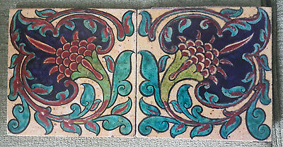 Rare Hand-painted Arts and Crafts tiles