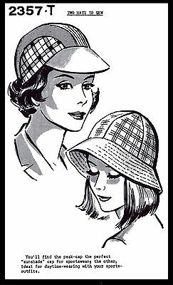 Summer Hats Sew Pattern 2357-T Easy Millinery CHEMO Alopecia Golf Beach Sports
