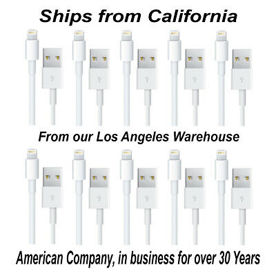 """10 PACK - 36"""" LIGHTNING USB Cable for Apple iPhone and iPad SHIPS FREE"""