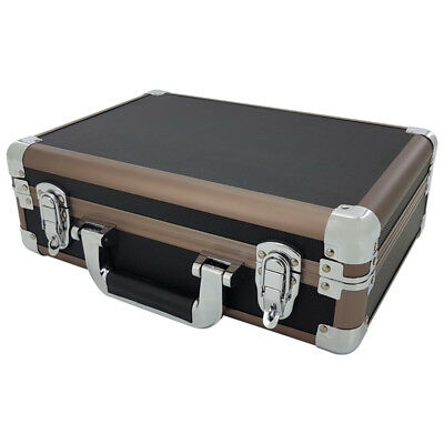 Black Aluminium Flight Carry Case Bronze Camera Tool Travel Camera Storage Box