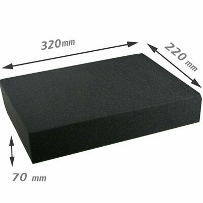 Foam Block 320x220x70mm Pick and Pluck Cubed Secure Padding EN-AC-RB-340 Case
